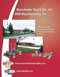 Steel fabricating, production machining and tube end forming services literature